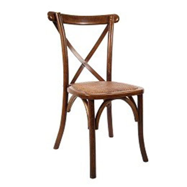 Cross Back Chair - <p style='text-align: center;'>R 65</p>