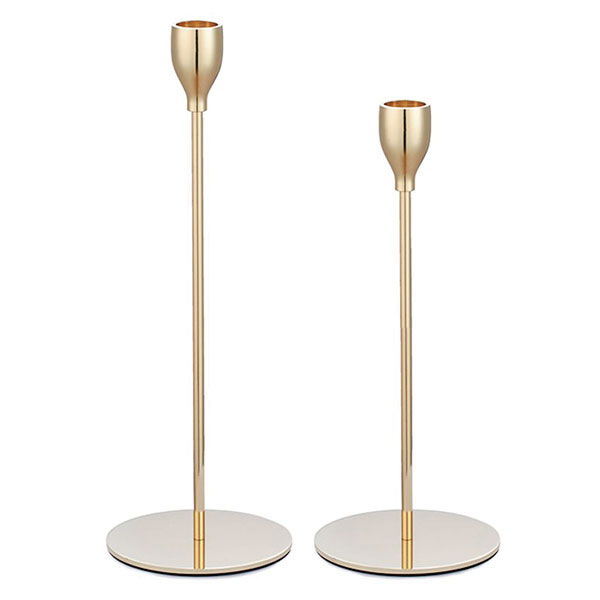 Modernist Gold Candle Stick - <p style='text-align: center;'><b>HOT NEW ITEM</b><br>22 cm - R 17.50 <br>