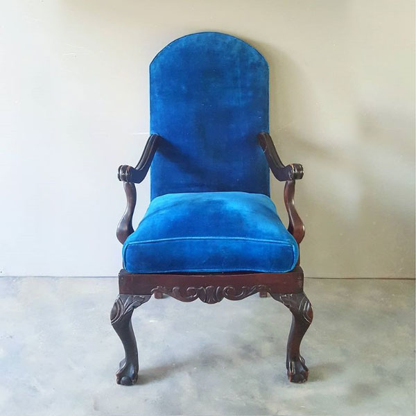 Royal Blue Bohemian Chair - <p style='text-align: center;'>R 250</p>