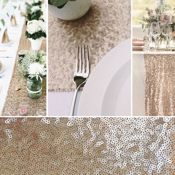 Sequin Table Runner for Hire in Cape Town