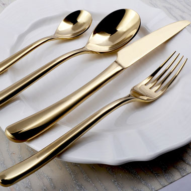 Frenchy Gold Cutlery - <p style='text-align: center;'>Per Item - R 9 <br>