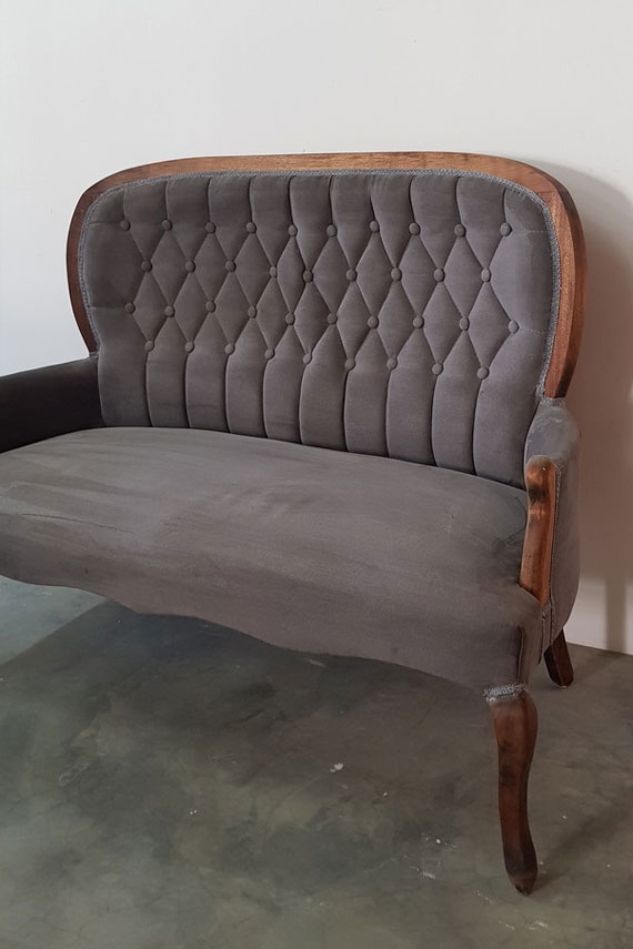 Button Queen Anne Couch for Hire in Cape Town
