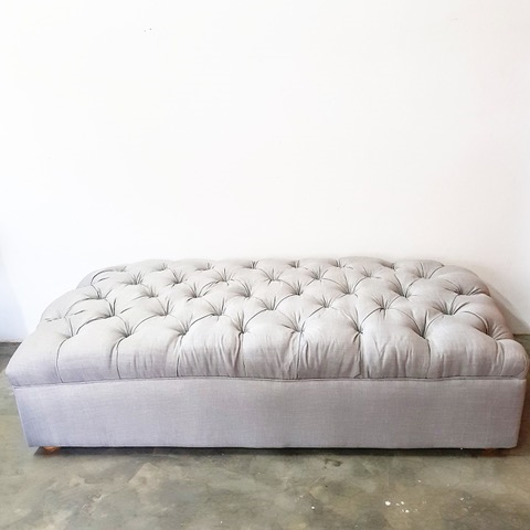 Large Button Ottoman - <p style='text-align: center;'>R 750</p>