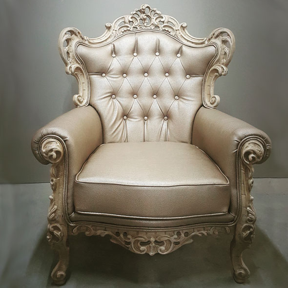 Gold Baroque Armchair - <p style='text-align: center;'>R 650</p>