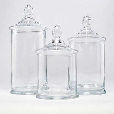 Glass Cookie Jar -