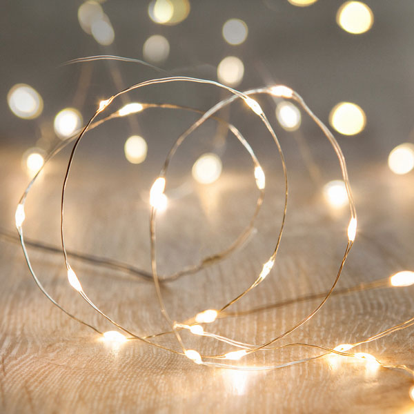Wire Fairy Lights - <p style='text-align: center;'>R 50</p>