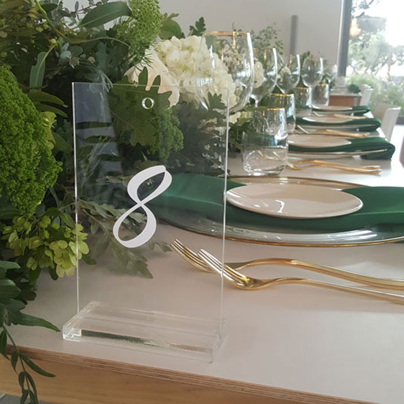 Table Seating Numbers -
