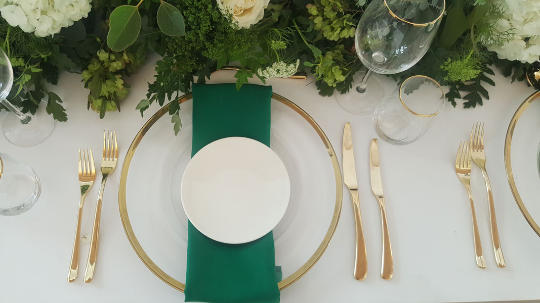 Frency Gold Cutlery for Hire in Cape Town