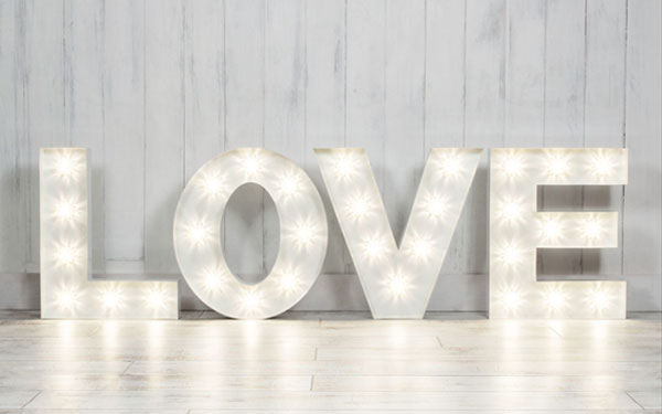 Small Marquee Light Up Letters for Hire in Cape Town