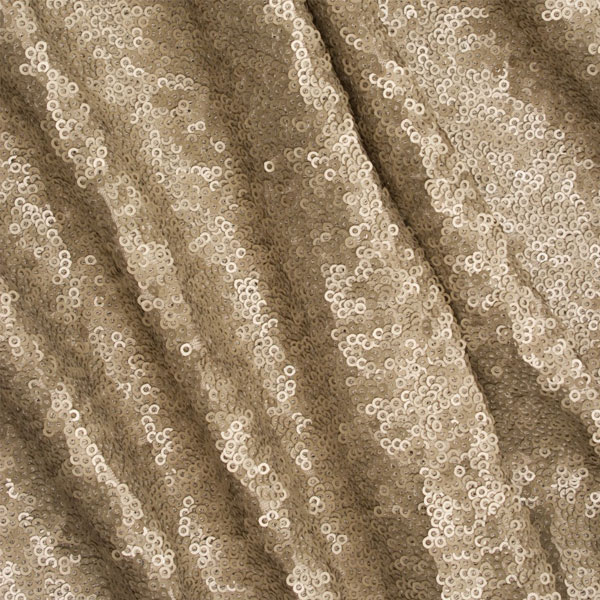 Sequin Tablecloth Champagne Gold  -